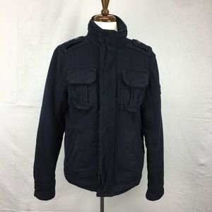 Abercrombie & Fitch Navy Couchsachraga Wool coat